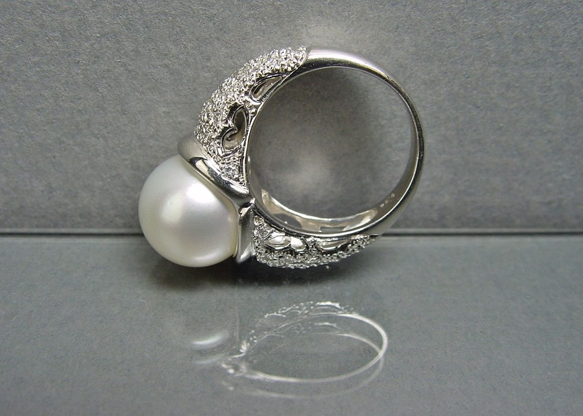Halina Fuchs Jewelry Designer Platinum and South Sea Pearl with
