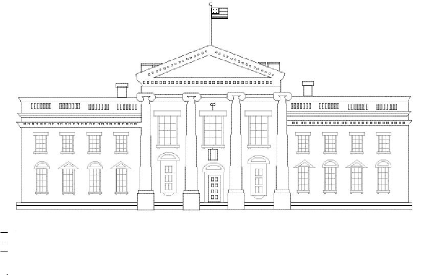 The White House Coloring Page Traveling To Washington Dc