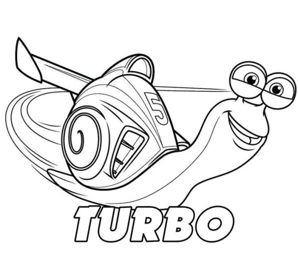 Coloring Page Turbo Pixar Turbo Coloring Pages For Kids Free