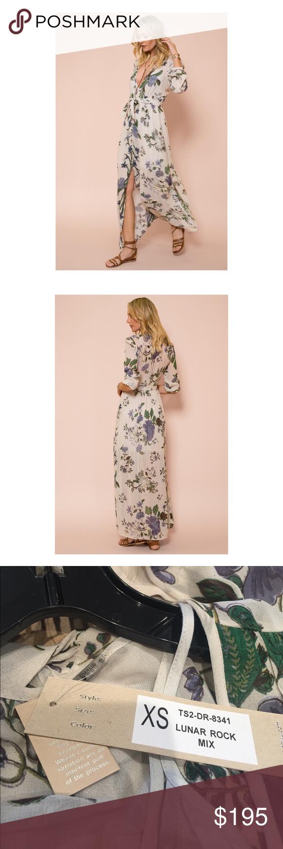Chan luu lunar mix floral print dress nwt nwt floral print maxi