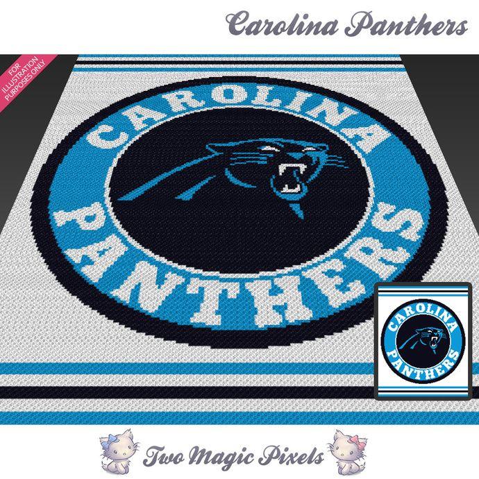 Carolina Panthers Crochet Blanket Pattern Knitting Cross Stitch