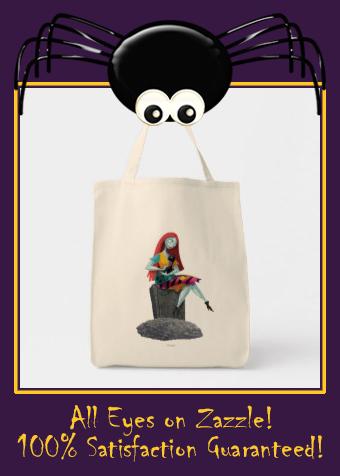 Nightmare Before Christmas Sally & Cat Sitting Tote Bag