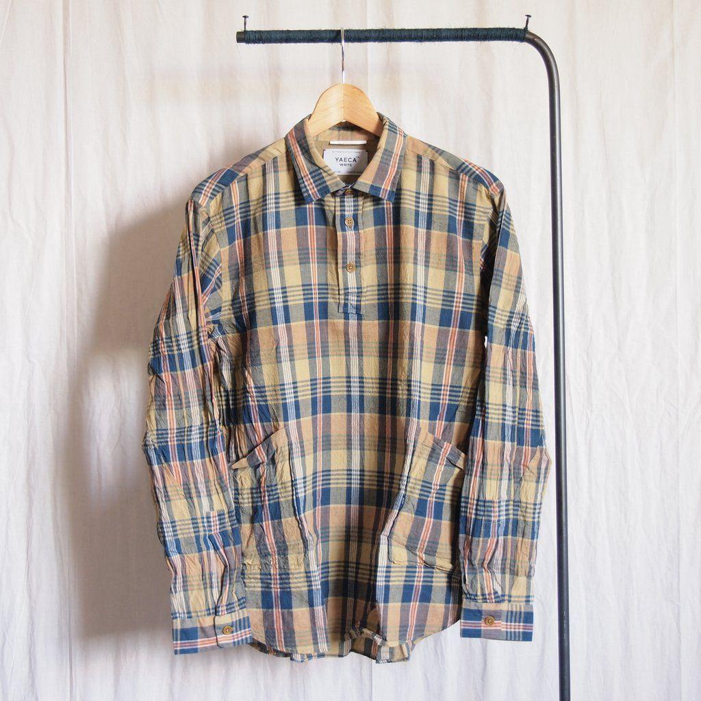 YAECA - Pullover Shirt #yellow check