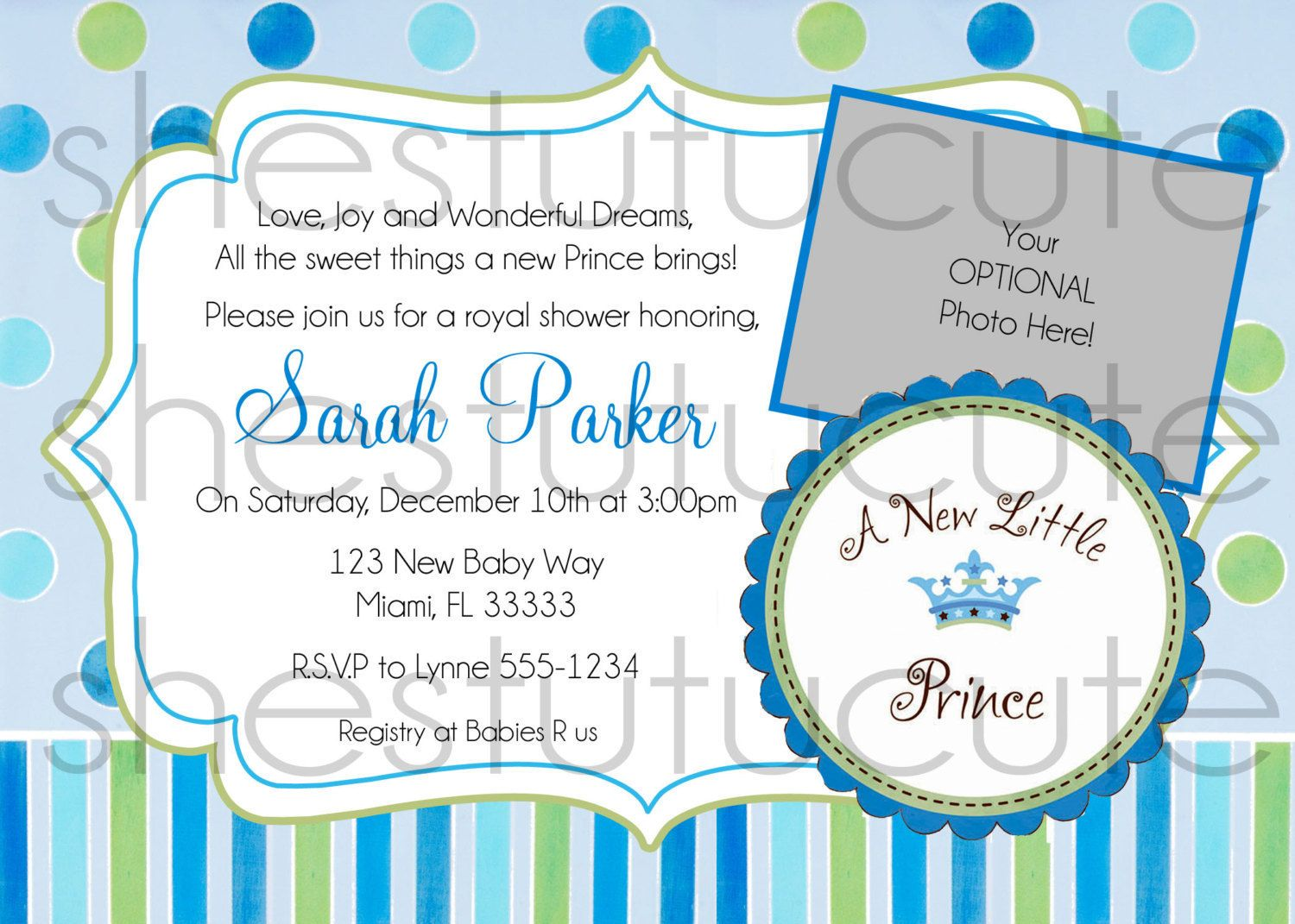 A New Little Prince Baby Shower Invitation by ShesTutuCuteBtq | Our ...