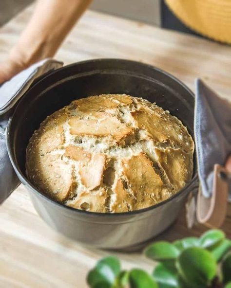 Photo of »Bake pot bread – Bake bread in 10 minutes