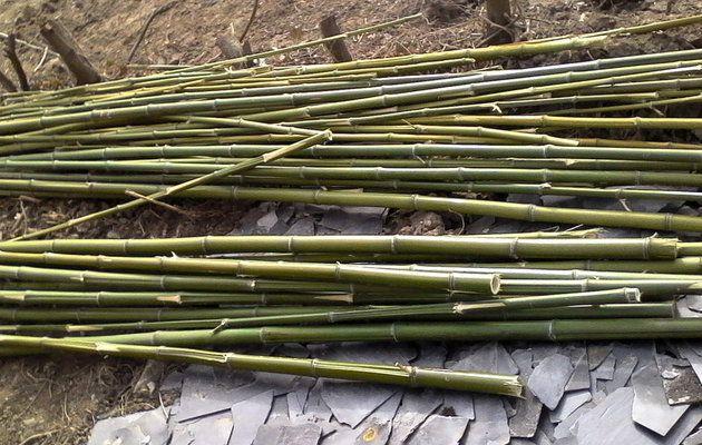 fabriquer un brise vue en bambou DIY jeux/gifts  misc Pinterest - construction terrasse en bois sur parpaing