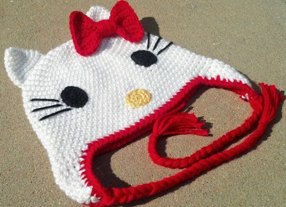 Hello Kitty Hat Beanie Pattern By Madebytrudy On Etsy 300