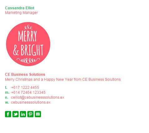 Christmas Email Signature Templates, make yours now at http ...