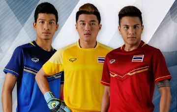 Thailand 2015 SEA Games Home and Away Kits Soccer Jerseys 21add1470