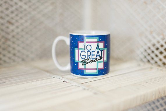 BOSS Coffee Mug | To a Great Boss | Boss Gift | Boss's Day | Office Gift | Retro Coffee Mug | Retro #bosscoffee