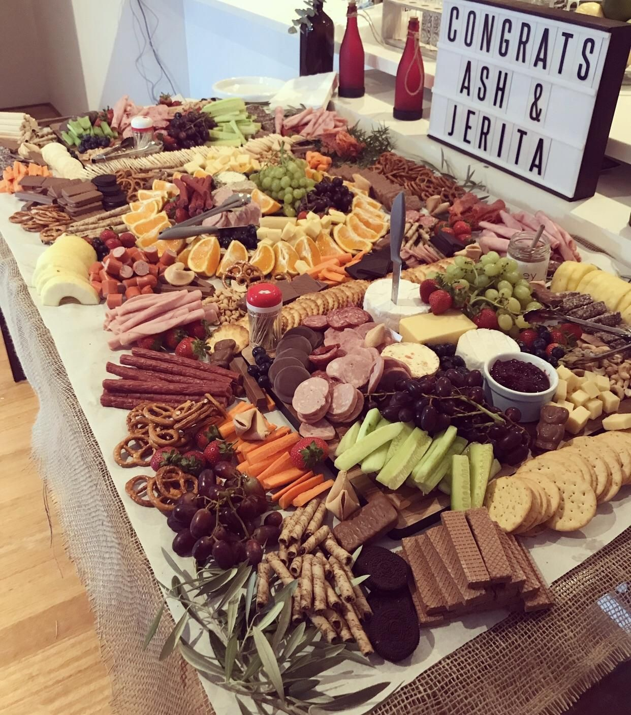 Wedding Food Tables: [homemade] Grazing Table : Food