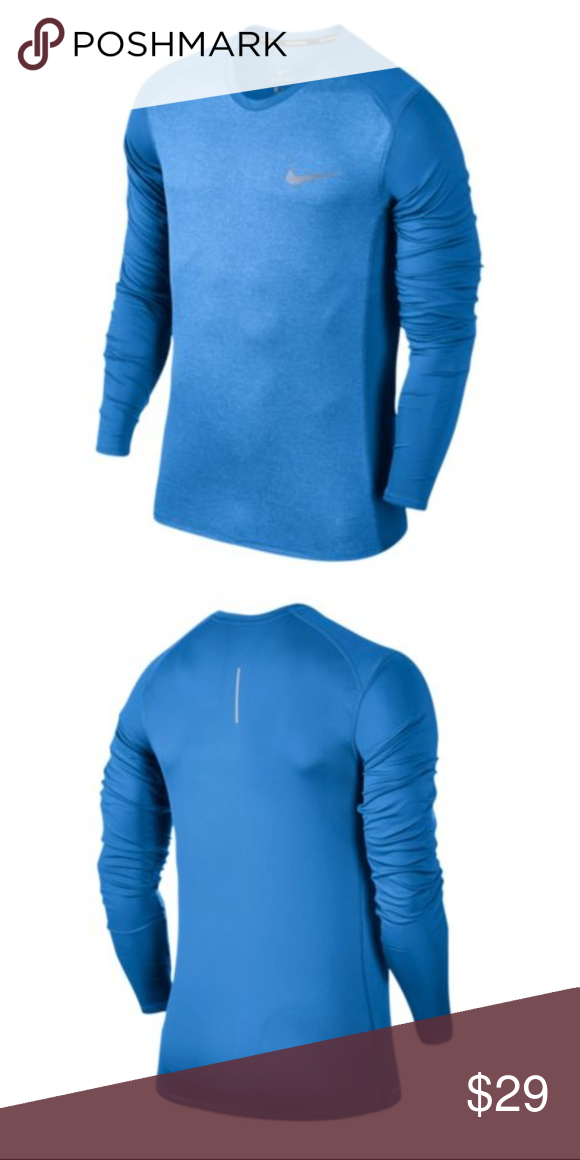 865db2733448 Nike Dri-Fit Long Sleeve Mens Running Shirt Size L New with Tags! Color   Blue Size  Large Features  ventilated back and sides Nike Shirts Tees -  Long Sleeve
