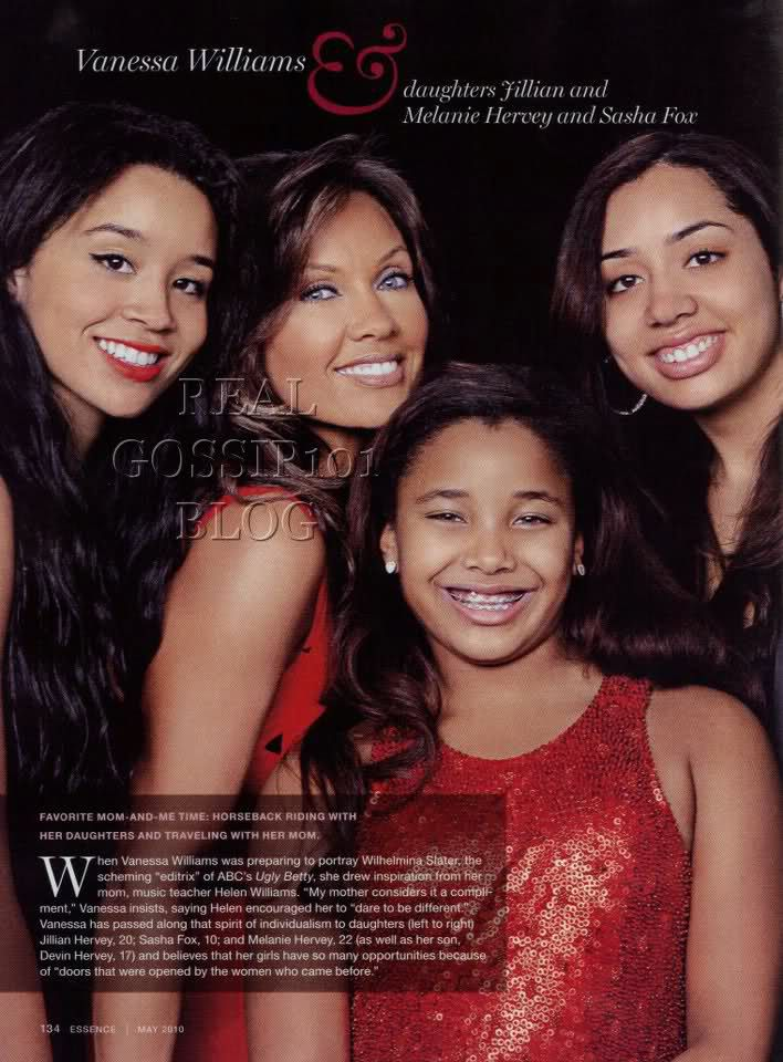 Vanessa Williams And 3 Daughters With Images Vanessa Williams