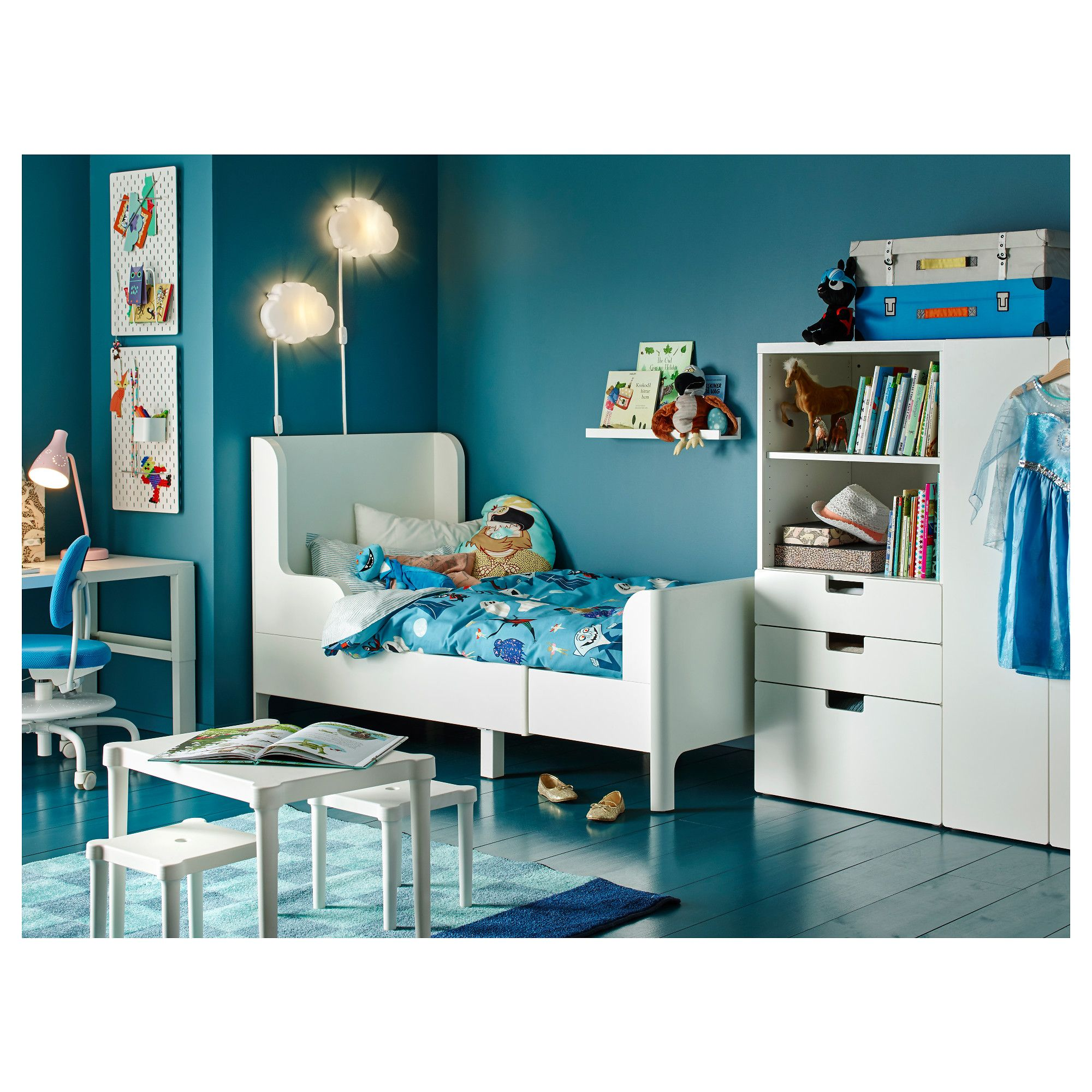 Sedia Junior Ikea Busunge Extendable Bed White Ikea Products Ikea Kids Room