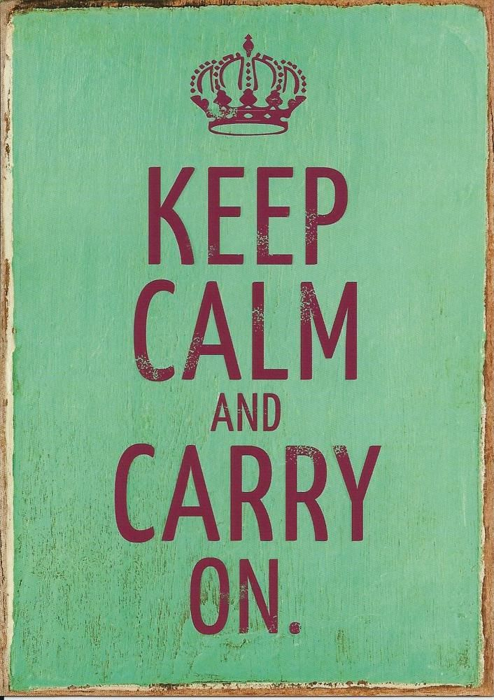 Vintage Art Postkarte Keep calm