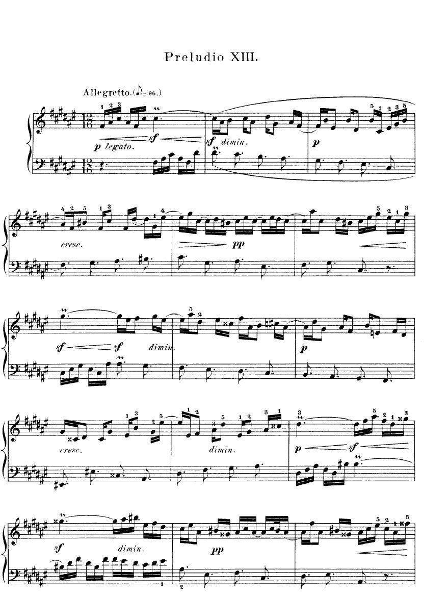 Prelude in F Major: Sheet
