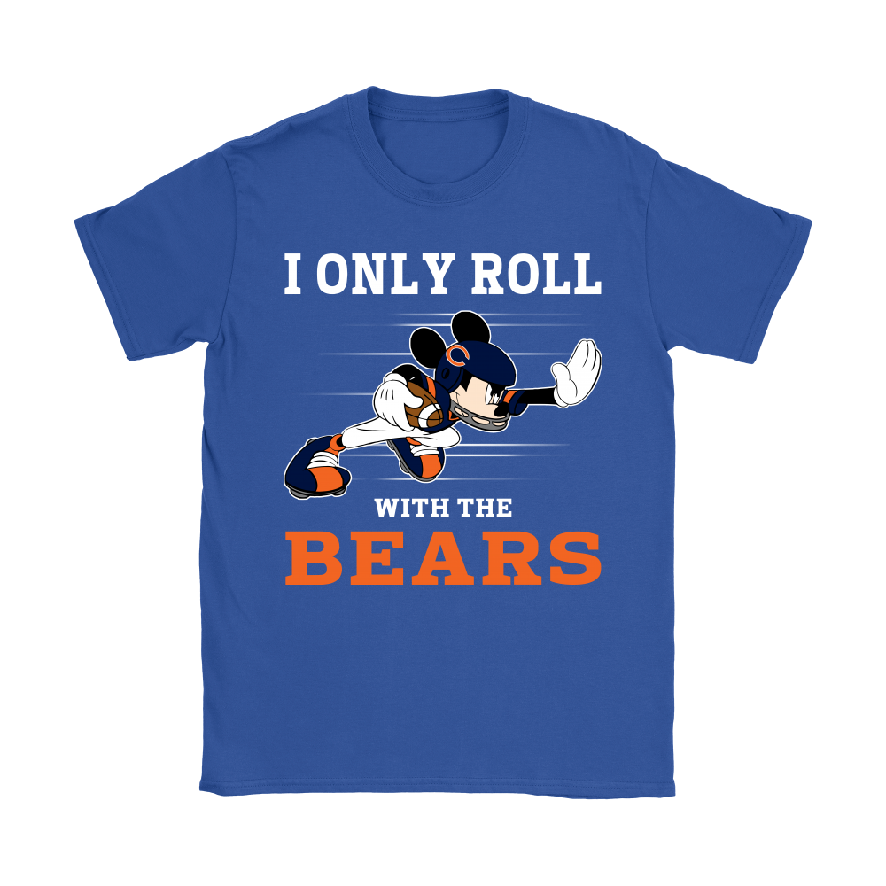 NFL Mickey Mouse I Only Roll With Chicago Bears Shirts
