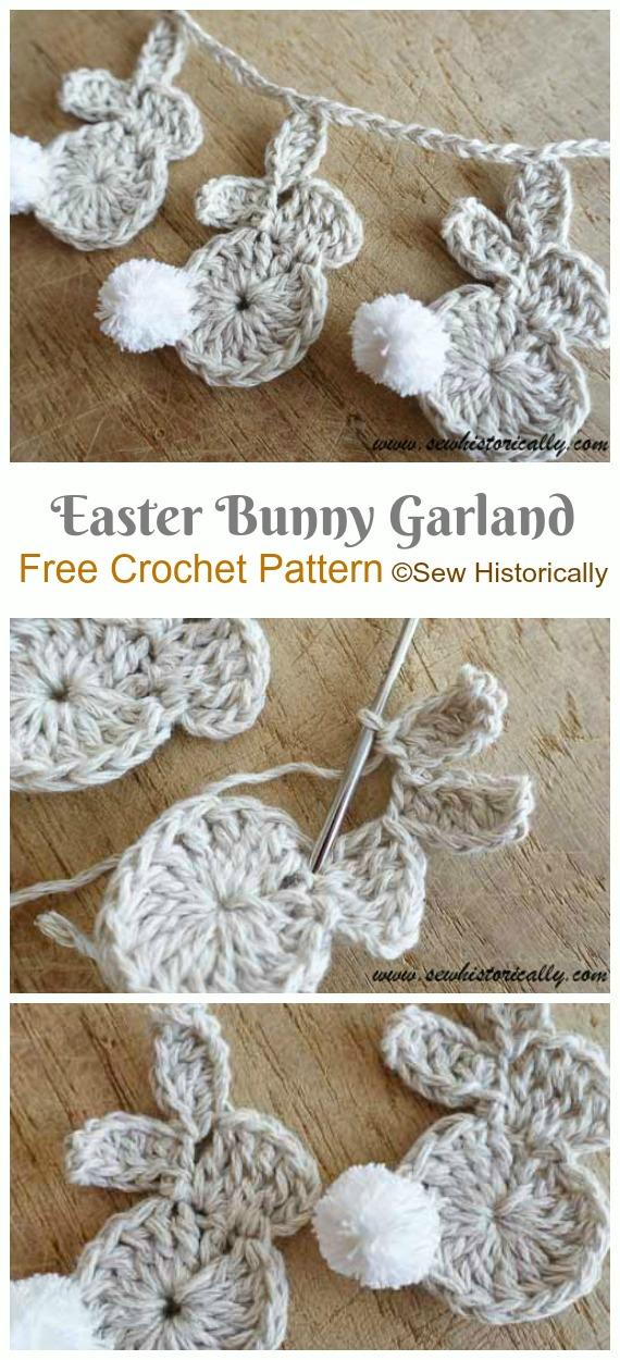 Crochet Bunny Applique Free Patterns