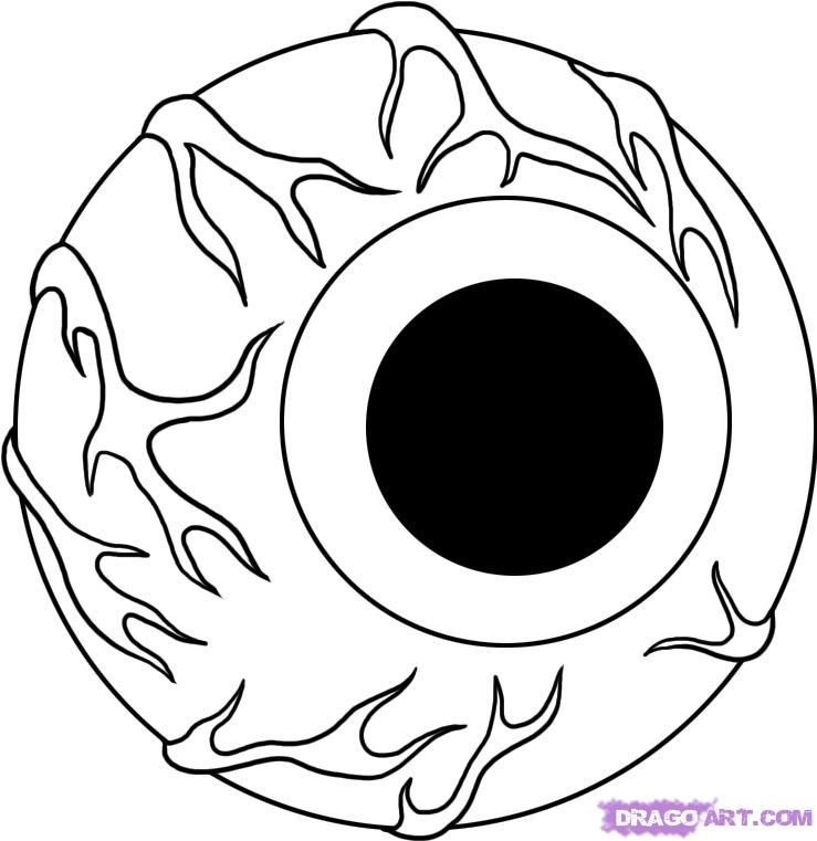 Draw An Eyeball Scary Drawings Halloween Pictures To Draw Halloween Drawings