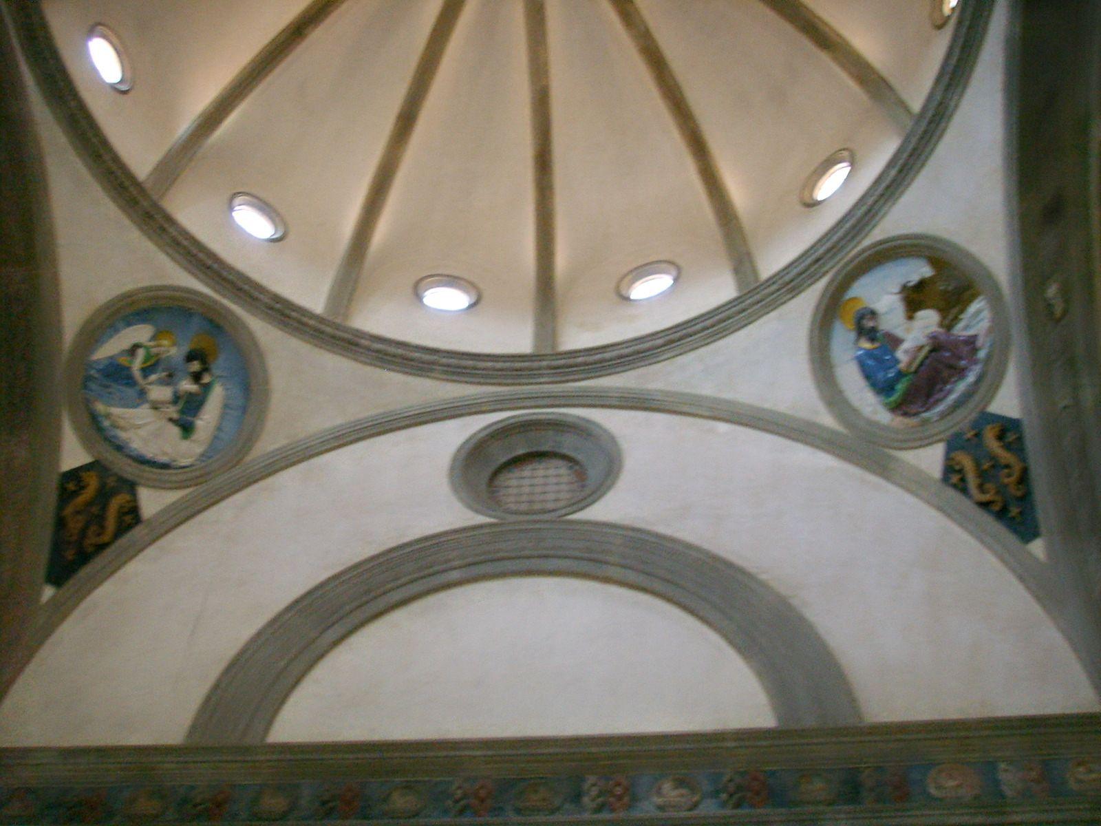 Chiesa di santa croce, cappella dei pazzi, cupola.