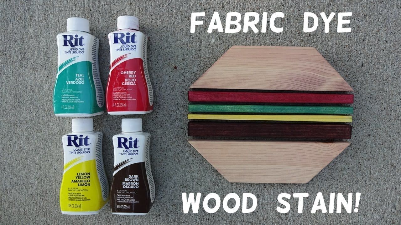 How To Stain Wood With Fabric Dye Youtube Staining Wood How To Dye Fabric Homemade Wood Stains