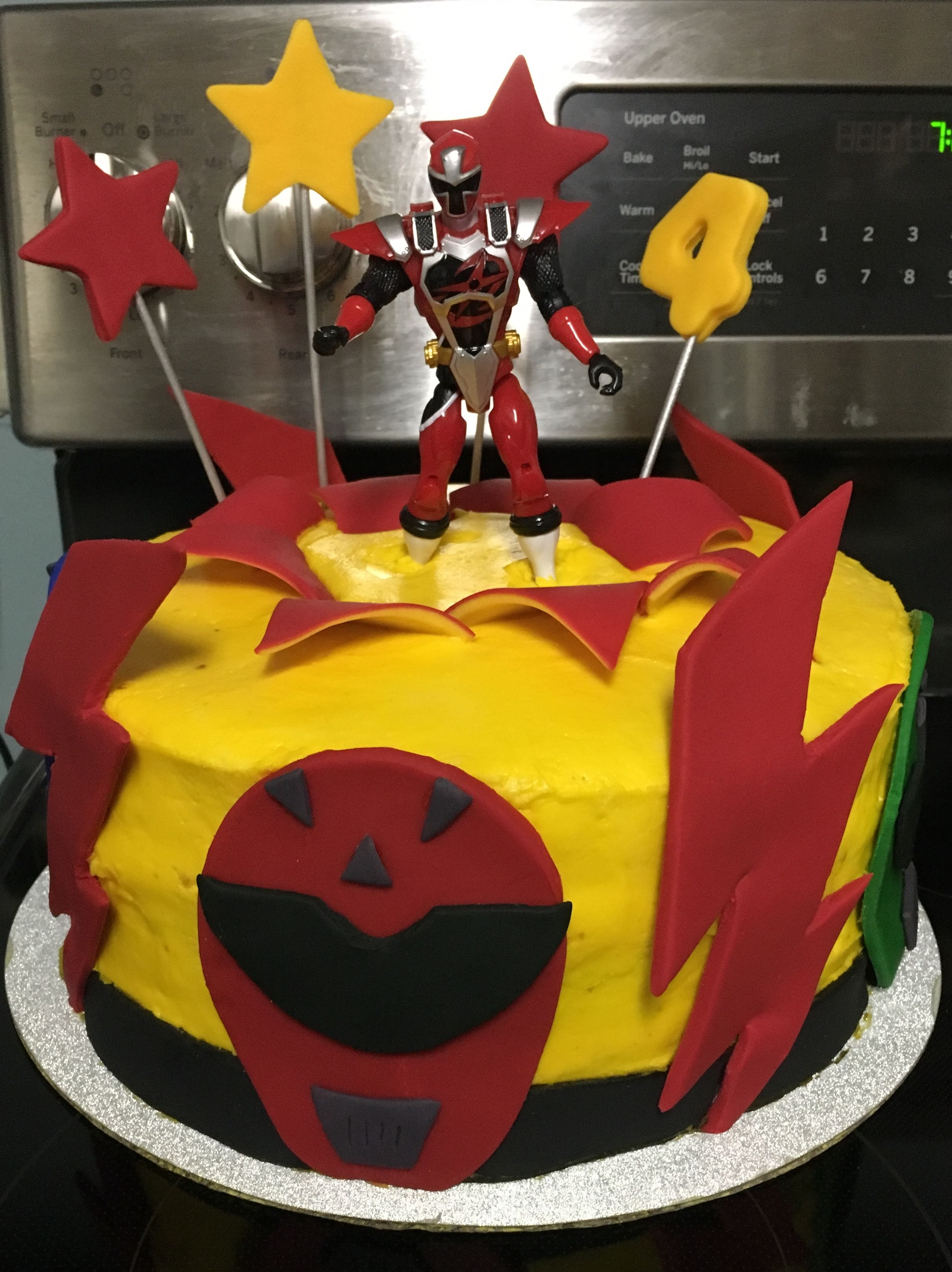 Cool Ninja Steel Power Ranger Birthday Cake Power Ranger Birthday Personalised Birthday Cards Veneteletsinfo