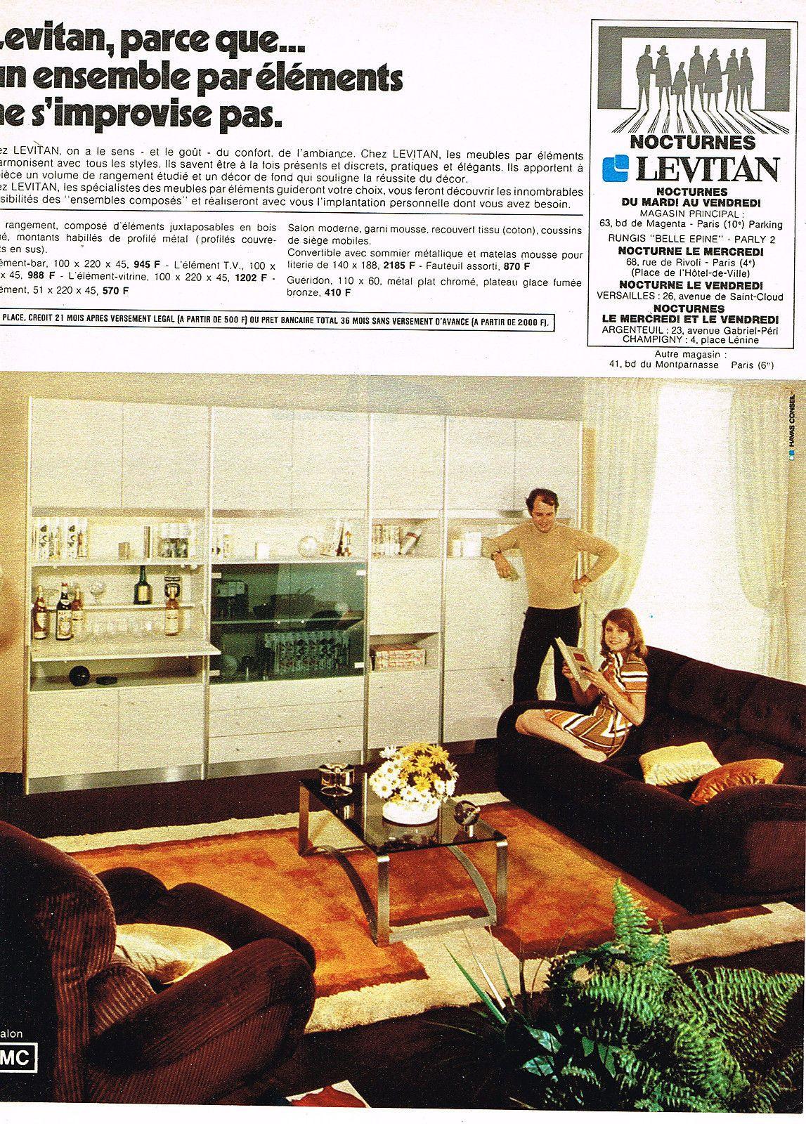 Details Sur Publicite 1972 Levitan Meubles Vintage Decor Vintage House Vintage Home Decor
