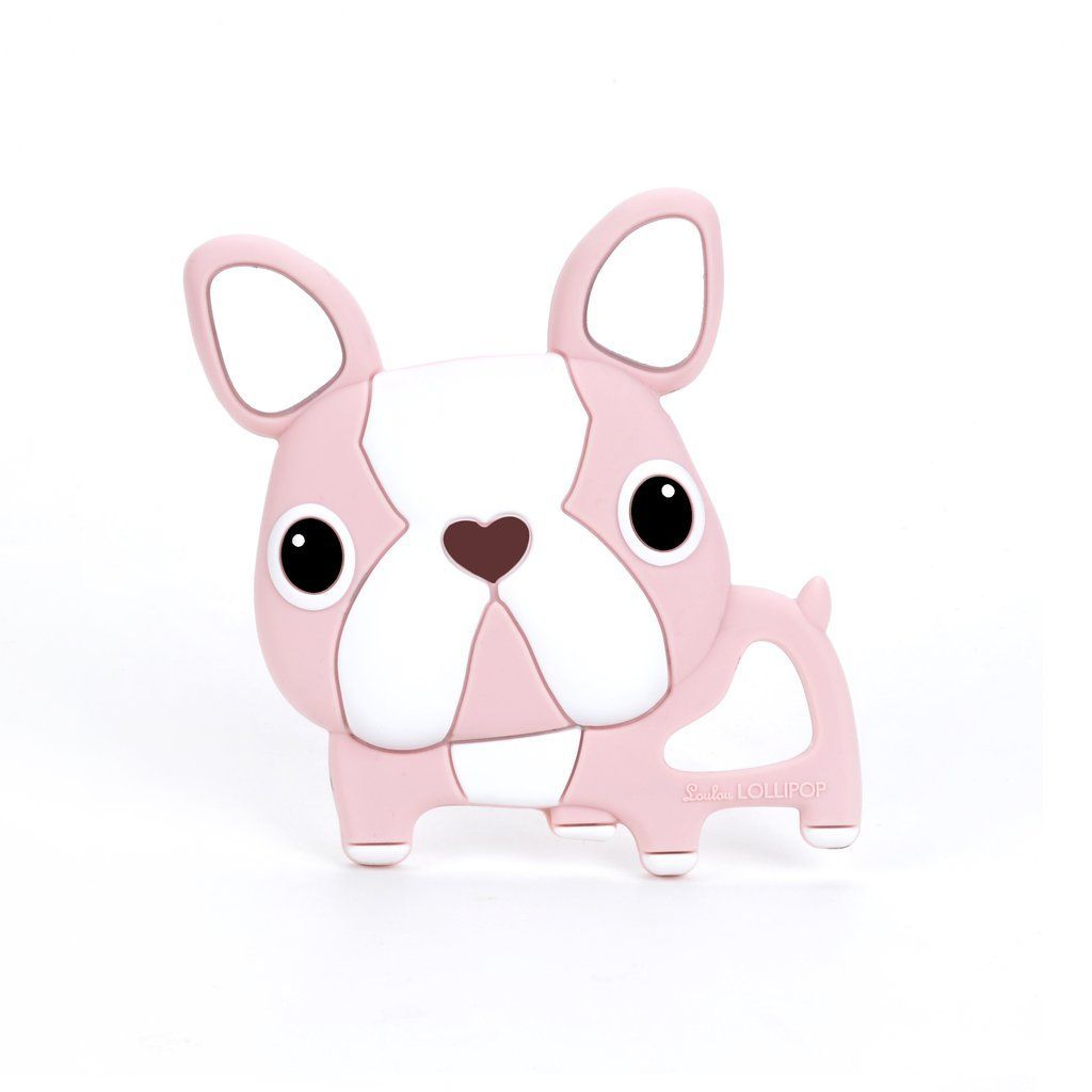 Pink Boston Terrier Silicone Teether - Single