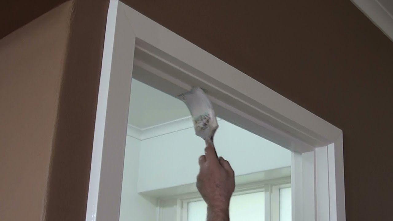 How to paint a door frame or door jamb – (correct technique)