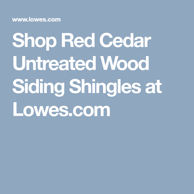 Best Shop Red Cedar Untreated Wood Siding Shingles At Lowes Com 400 x 300
