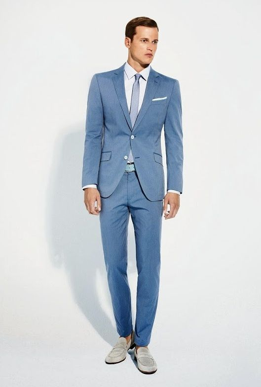 5f13c08bd8f White Blue -- perfect suit color combos for the summer. Menswear suit style.