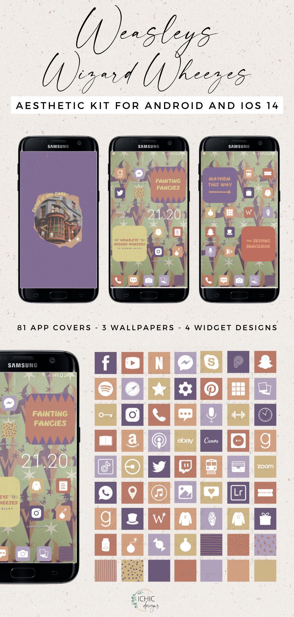 Homescreen Kits In 2021 Homescreen Widget Design Phone Themes