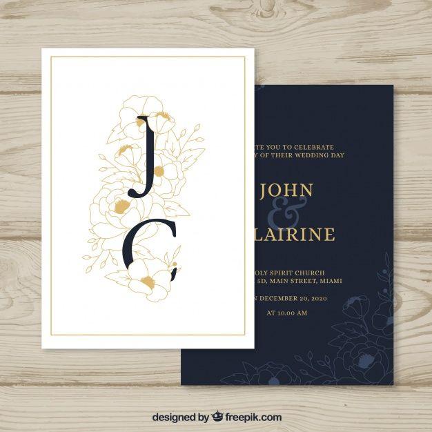 Invitaciones de de boda modernas para el 2018 - 2019 Invitaciones