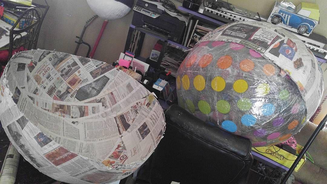 Gift wrap egg surprise. papermache ladym ladymcustomart