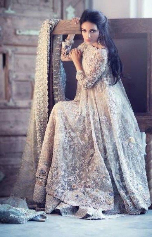 Ivory asian wedding dresses