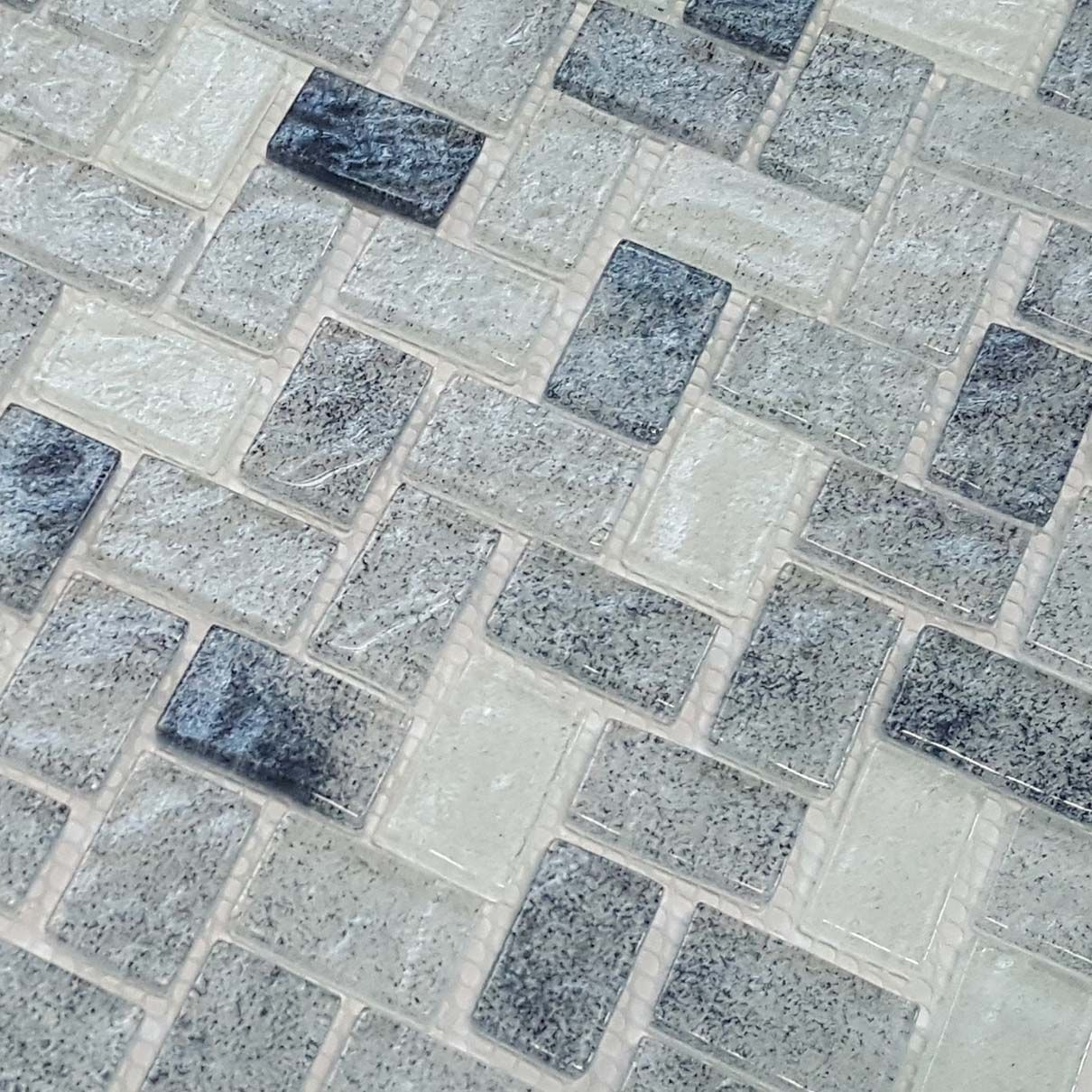 Herringbone Glass Mosaic Tile Stonewash Glass Mosaic Tiles Mosaic Glass Mosaic Tiles