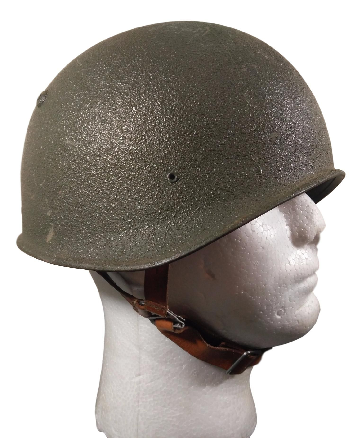 Swiss M1971 Steel Helmet with Alpenflage Camo Cover Used