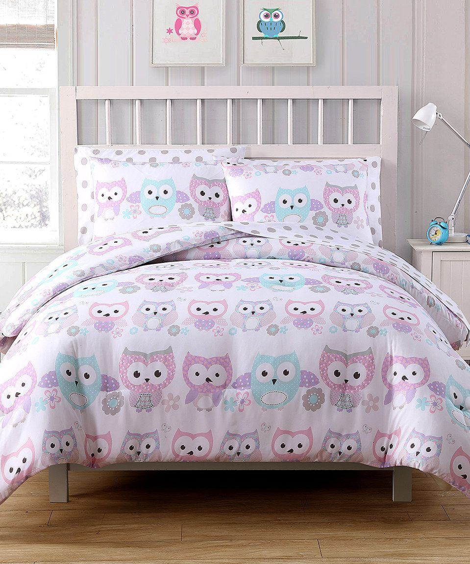 Love This Pink Grey Owl Comforter Set By Victoria Classics On Zulily Zulilyfinds Bed Linens Luxury Beautiful Bedding Bed