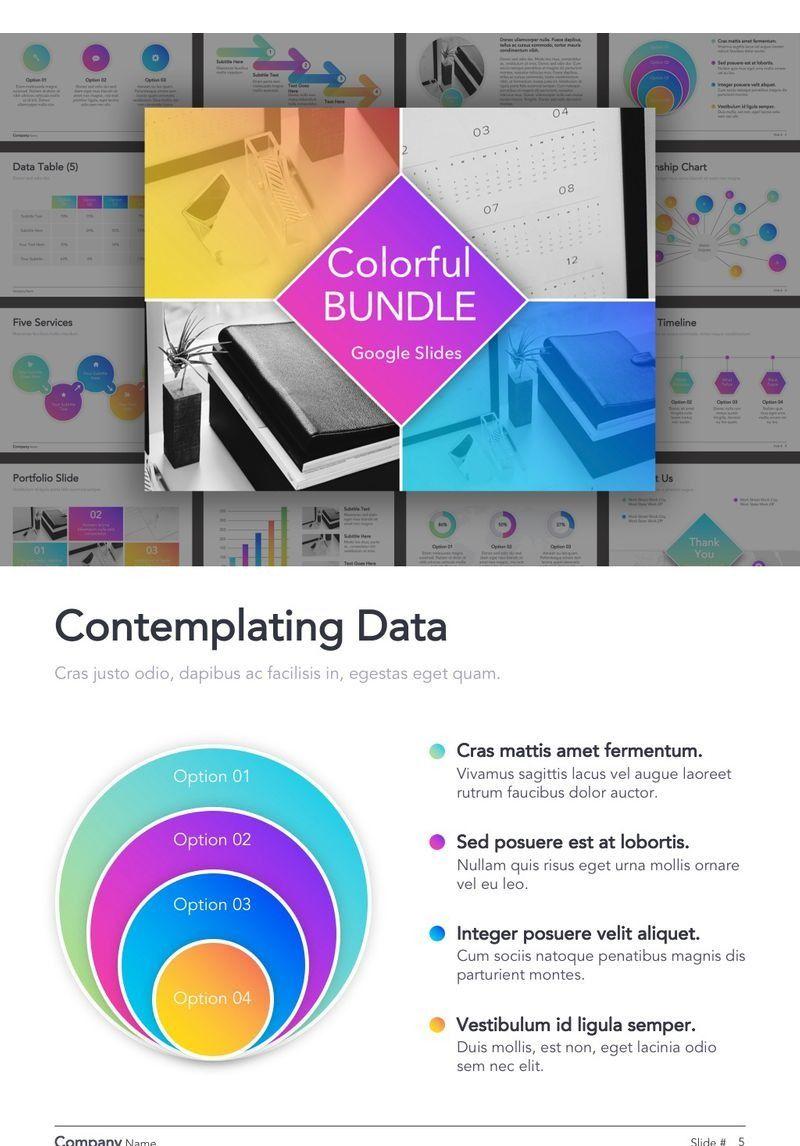 Colorful Bundle Google Slides 91457 Data Visualization