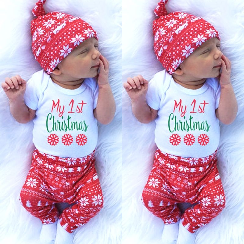 Attractive Newborn Baby Boys And Girls Christmas Clothes Set Christmas Baby Jumpsuit Cute Baby Boy Christmas Outfit Baby Outfits Newborn Baby Christmas Outfit