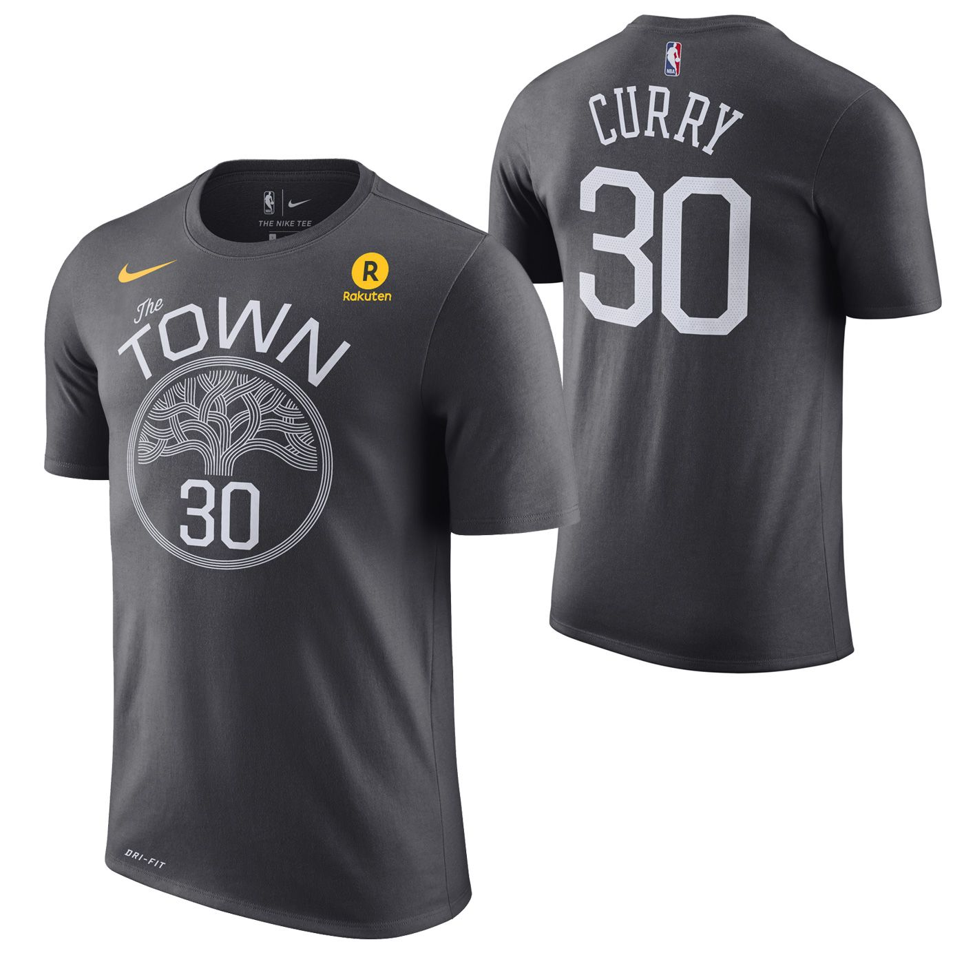 70f531efea4 Golden State Warriors Nike Dri-FIT Men's 'The Town' Stephen Curry #30 Game  Time Name & Number Tee - Grey