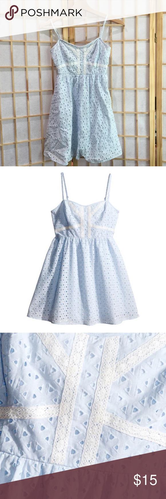 H&m blue lace dress  Hum eyelet lace baby blue dress  My Posh Picks  Pinterest