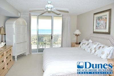 Master bedroom at Cambridge 105! Located at Litchfield By The Sea - Oceanfront with a pool.