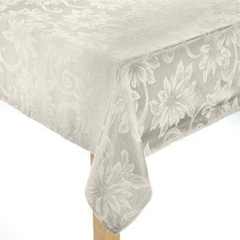 St. Nicholas Square Poinsettia Tablecloth - 60'' x 120'' Oblong