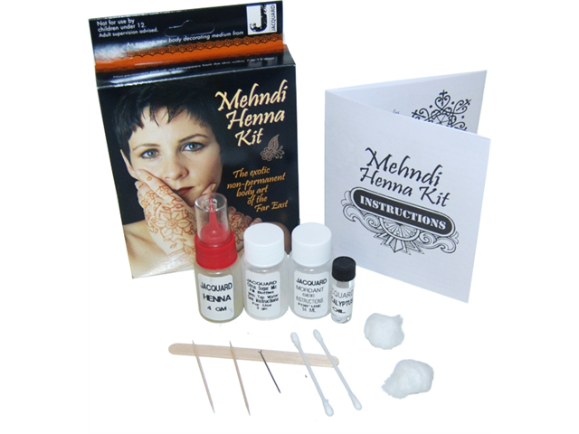Jacquard Mehndi Henna Kit Ingredients : An exciting new body decorating medium from jacquard the mehndi