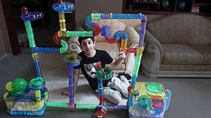 Faze Rug Building My Hamster His Dream Cage Part 2 Crazy We Built Hammy An Actual City