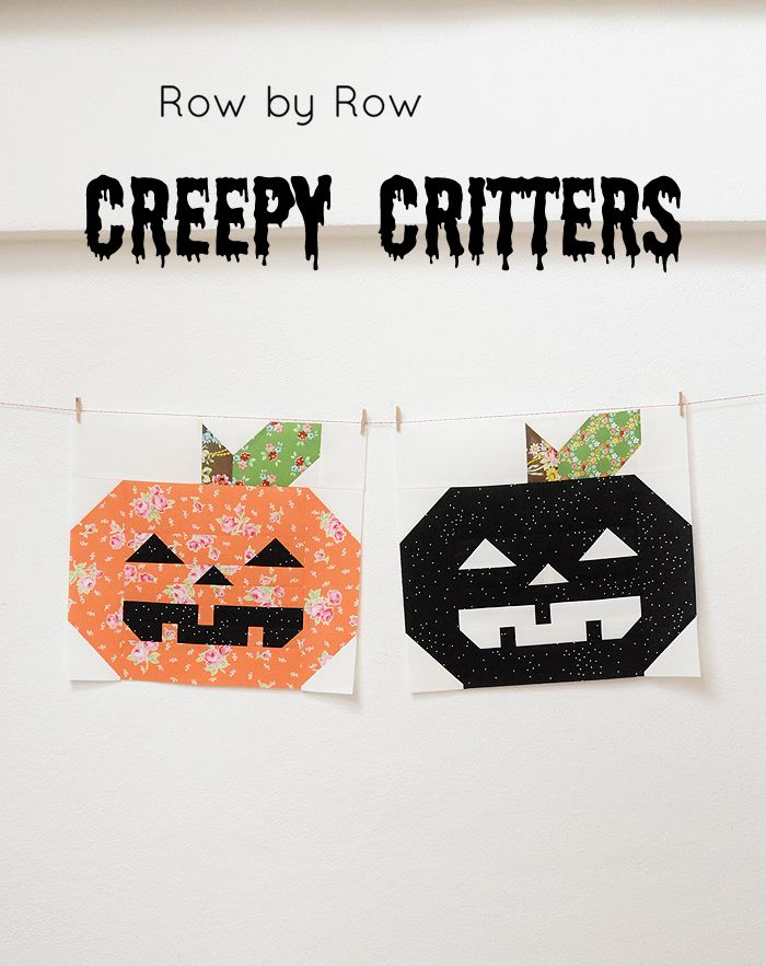 Creepy Critters Block No. 3 | halloween | Pinterest