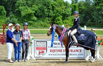Congratulations to Abigail Tinsley on winning the Eaton & Berube Children's Hunter Pony Finals presented by Mona's Monograms at HITS Saugerties!