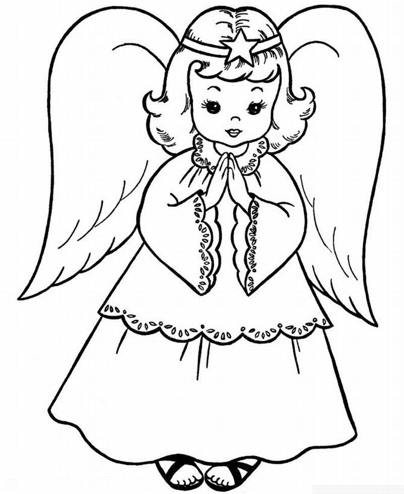 Desenho De Anjo 30 Ideias Para Imprimir Com Imagens Paginas