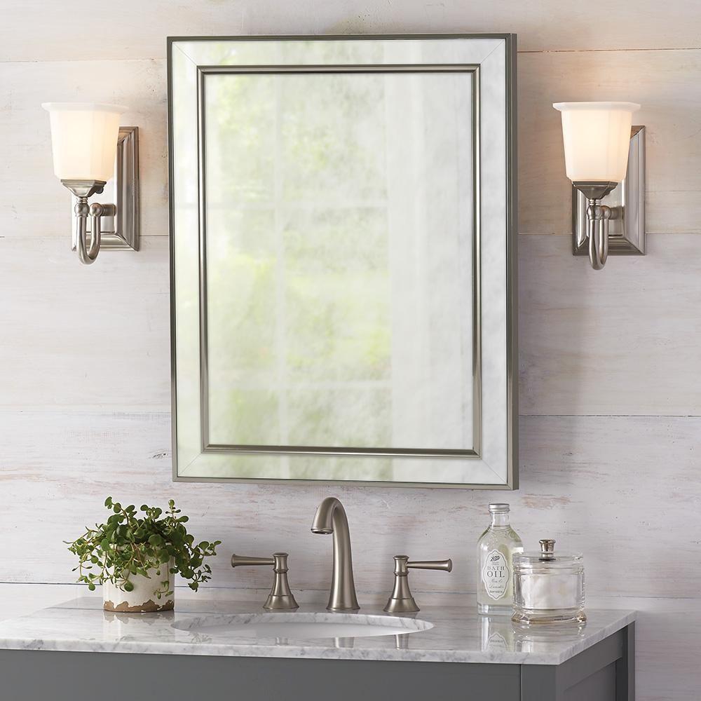 45+ Brushed nickel bathroom medicine cabinet with mirror inspiration